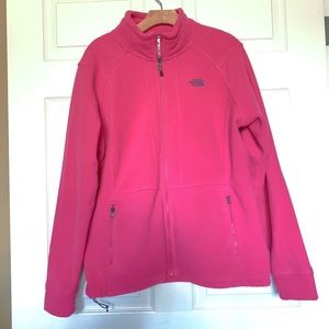 The north face full zip pink jacket